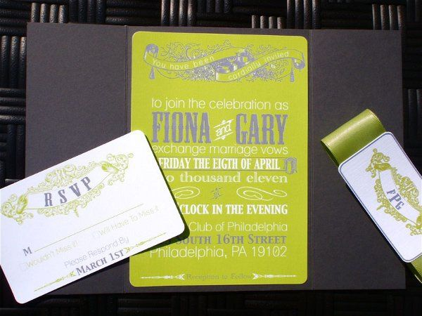 Tmx 1282667389703 GreenWithEnvy2 Concord wedding invitation