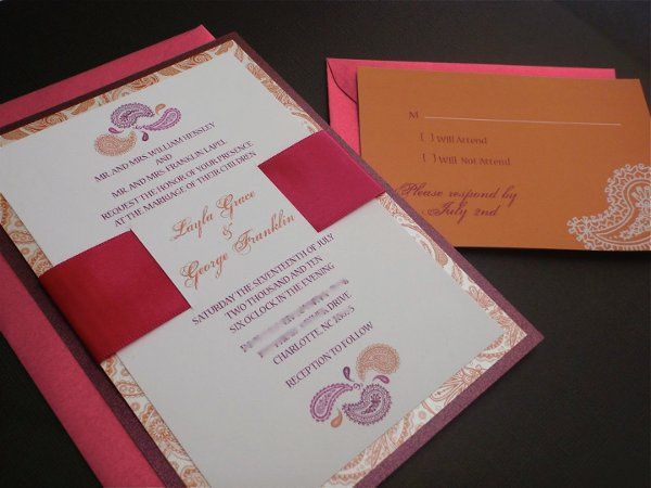 Tmx 1282667430984 ExoticPaisley Concord wedding invitation