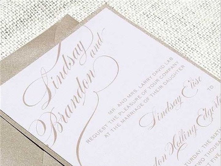 Tmx 1315492231371 AGracefulTan Concord wedding invitation