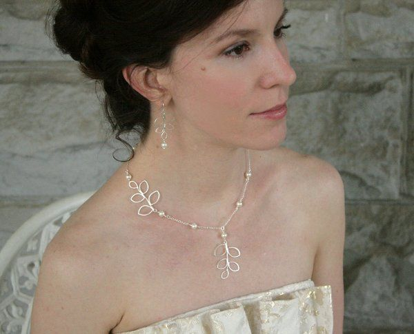 Tmx 1285441723993 Necklacesterlingbranchestwowithpearls02 Kansas City wedding jewelry