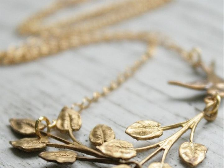 Tmx 1285441729149 Necklacevintgaebrassleavesandbird01 Kansas City wedding jewelry
