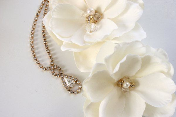 Tmx 1327274976065 MagnoliaDOUBLEblossomsw.gold.pearls.crystals14 Kansas City wedding jewelry