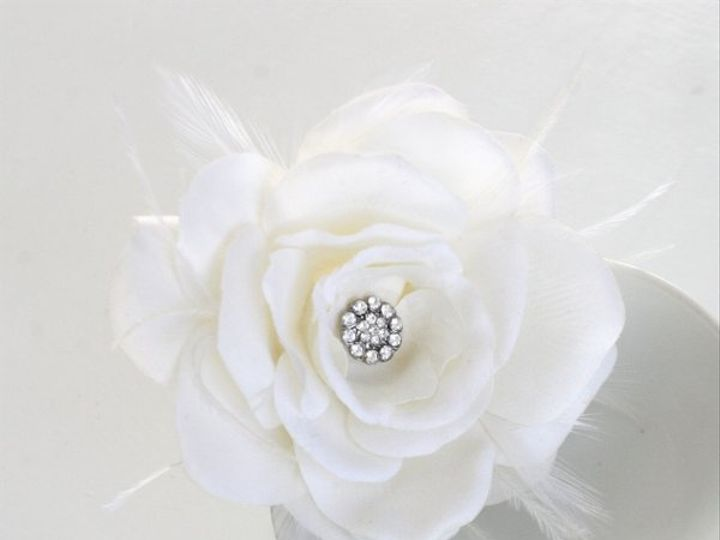 Tmx 1327275046877 RoseBloomw.featherscrystalcabachooncenterStyle001featherstyleB12 Kansas City wedding jewelry