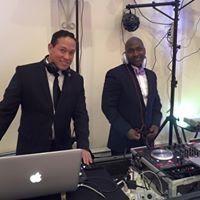 DJ Pruf and DJ Stevie G double team a wedding
