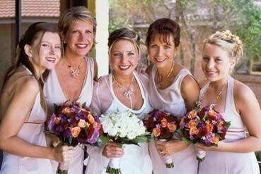 Nola with bridesmaids