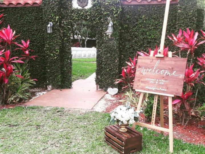 Tmx 1538768385 6d45298708424241 1538768383 6495850c50ca1ce6 1538768386226 20 Garden Sign Homestead, FL wedding venue