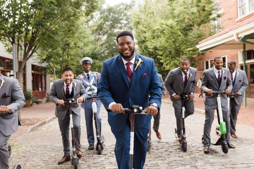 Groomsmen photos at wedding