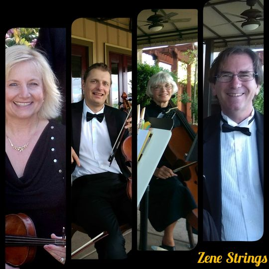 Zene Strings: Having fun together doing what they love best - making beautiful music!