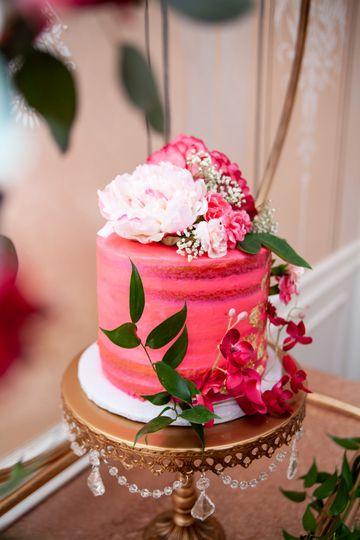 Pink fluffy cake