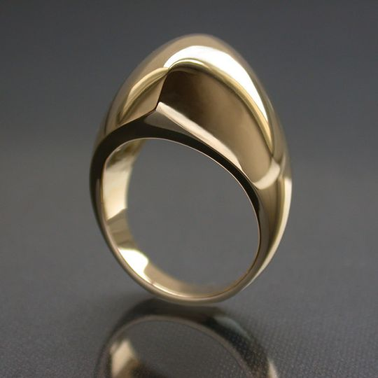Plain Hand Made Engagement ring in 18K yellow gold. Stone/s can be added on request. It can be...