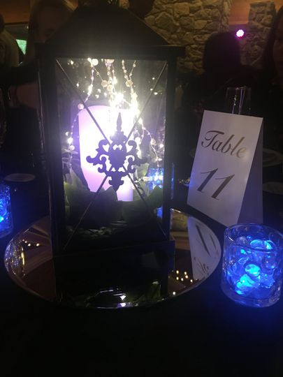 Lantern with LED candle