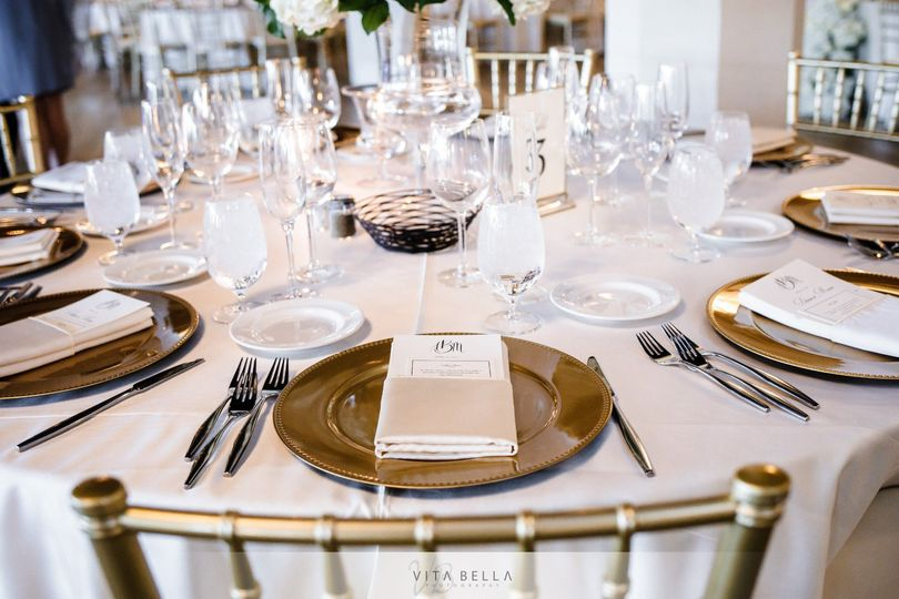 Table with customized menus