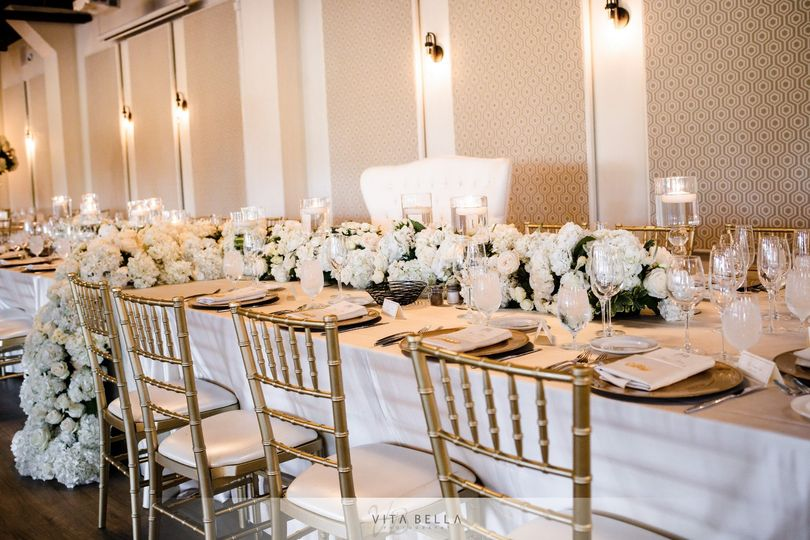Head table with loveseat for couple