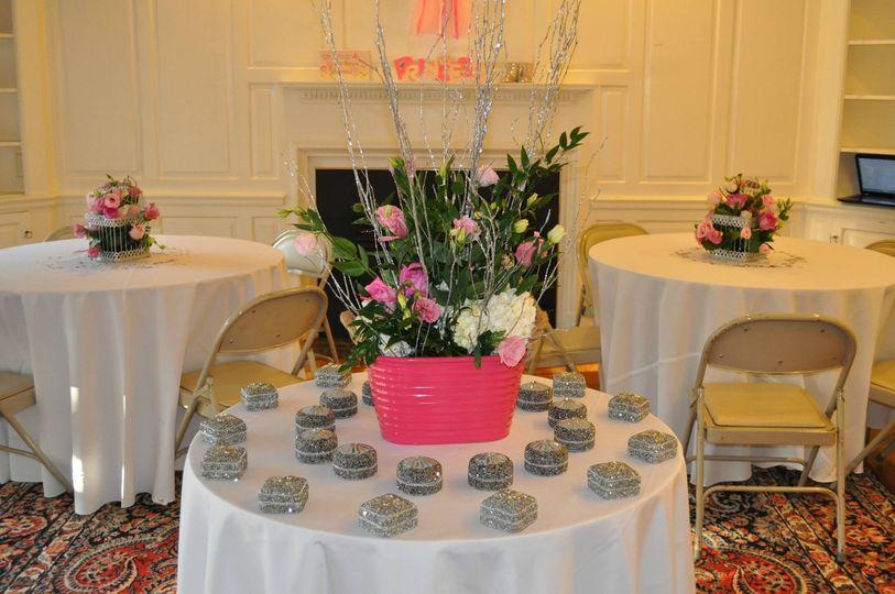Round table setup