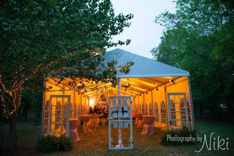 Warm tent lights