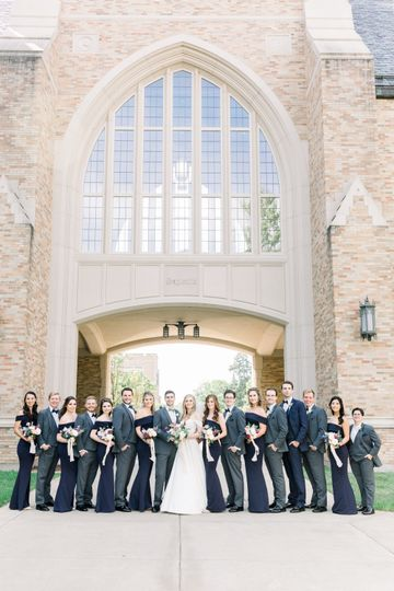 Bridal Party At Notre Dame