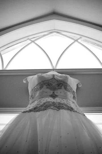 Bridal Gown with LCM arch