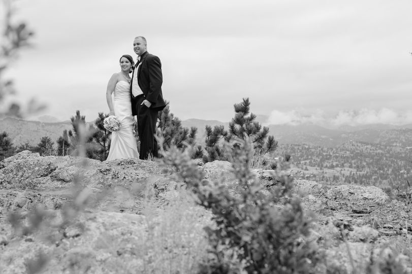 Mountain Wedding Photo B&W