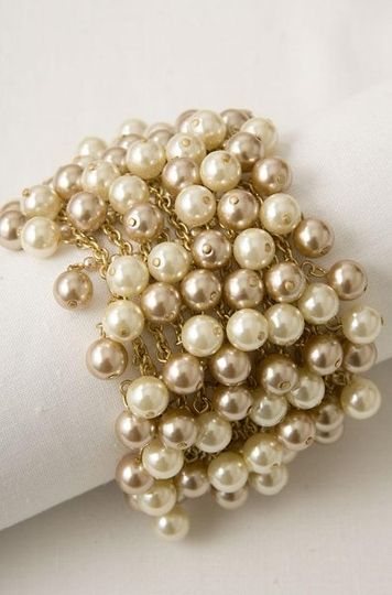 Pearl Baubble Bracelet.  Simply elegant on its own or paired with the Bib.  Doned by celebrities...