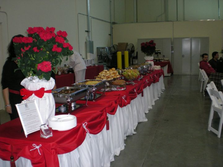 Catered buffet