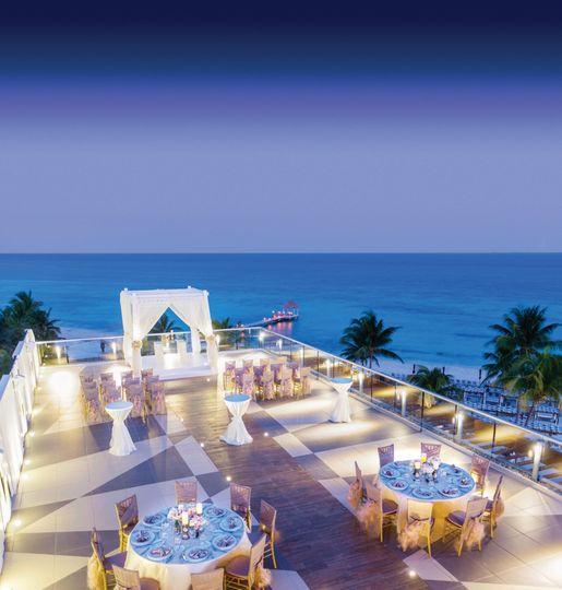 azul hotel sky wedding