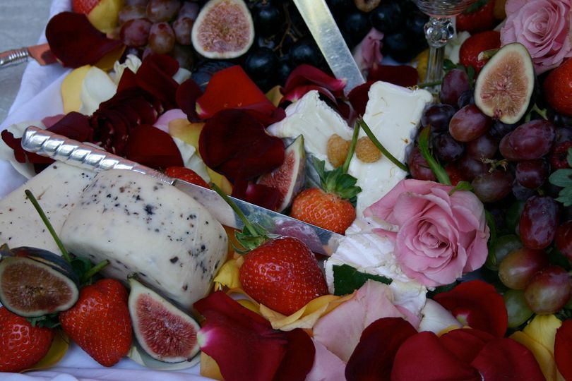 Fruits and cheeses