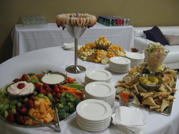 T and J Catering Appetizer Table