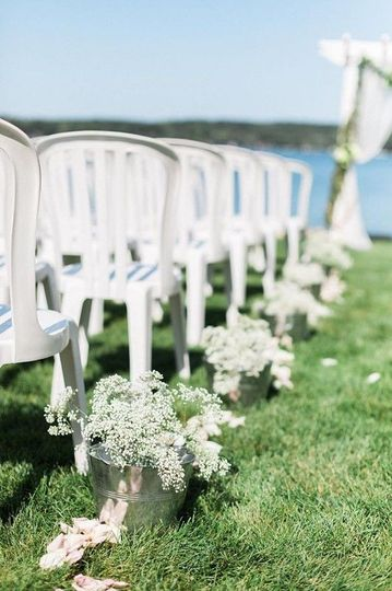ceremony chair decoration lakeside