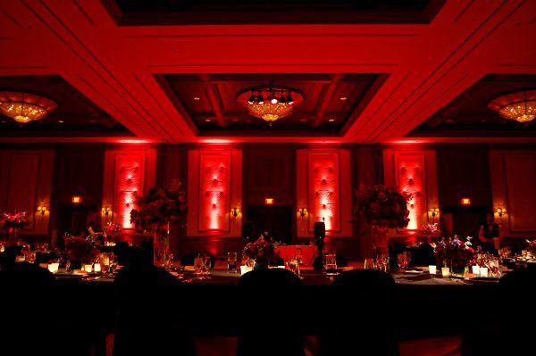 Indoor wedding reception area