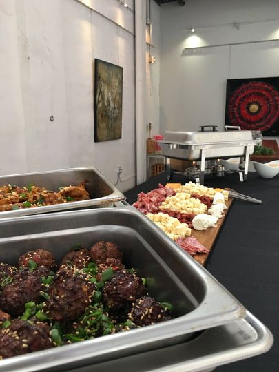 Food Truck Buffet Setting