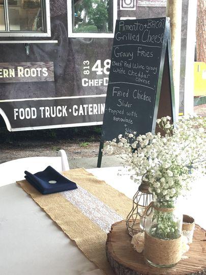 Food Truck Sample Menu