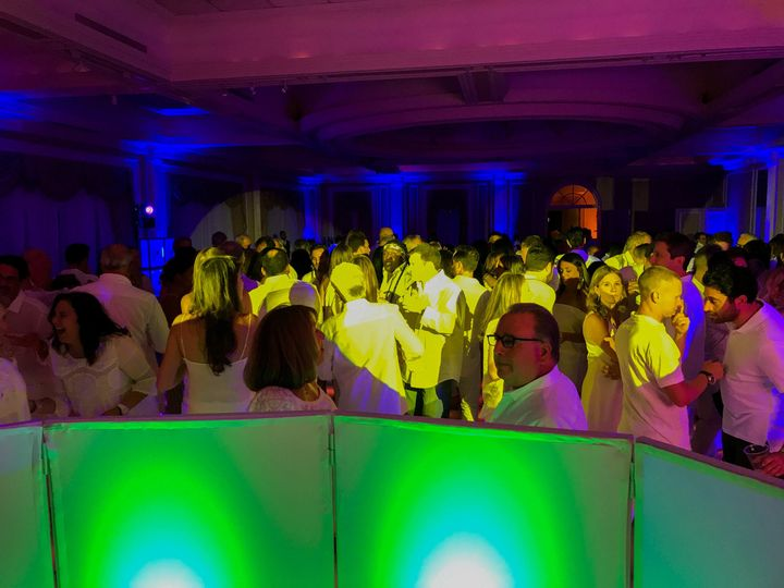 Dance floor at a party with CW Productions