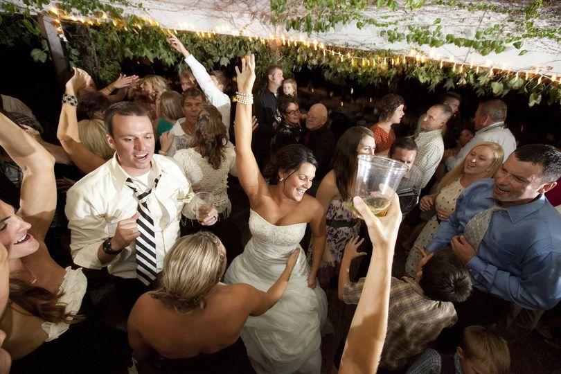 Wedding revelers