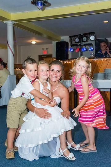Cheerful wedding guests