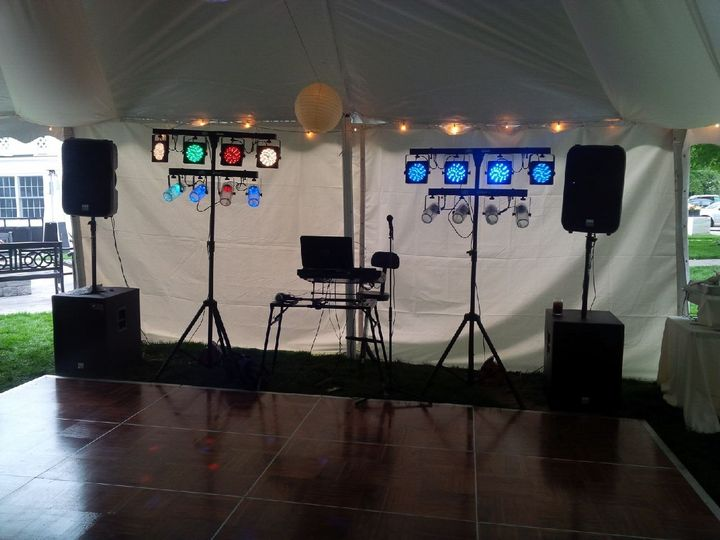 Dance floor setup and lights