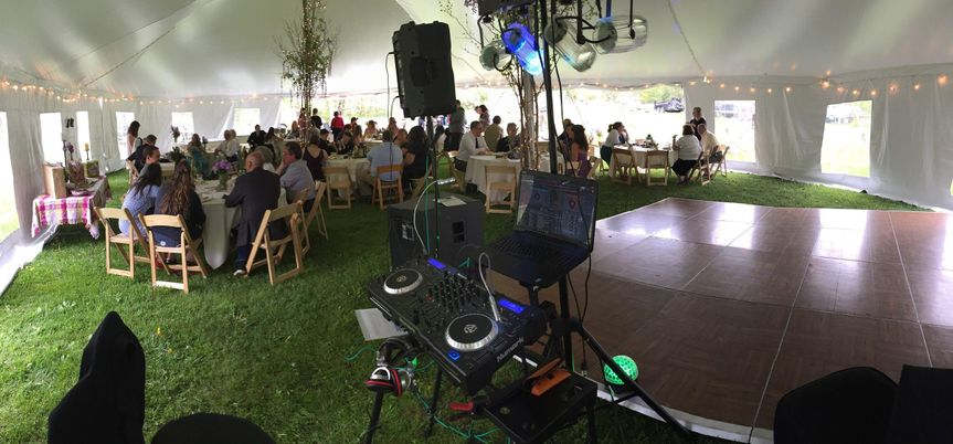 A marquee reception