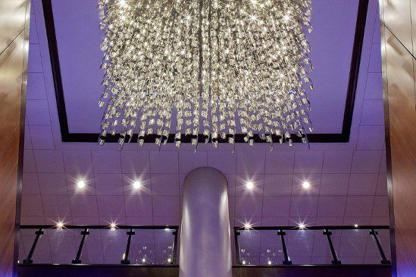 Steel Chandelier to Ballroom Level