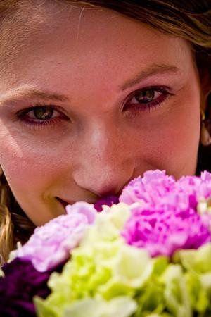 Bride's gaze