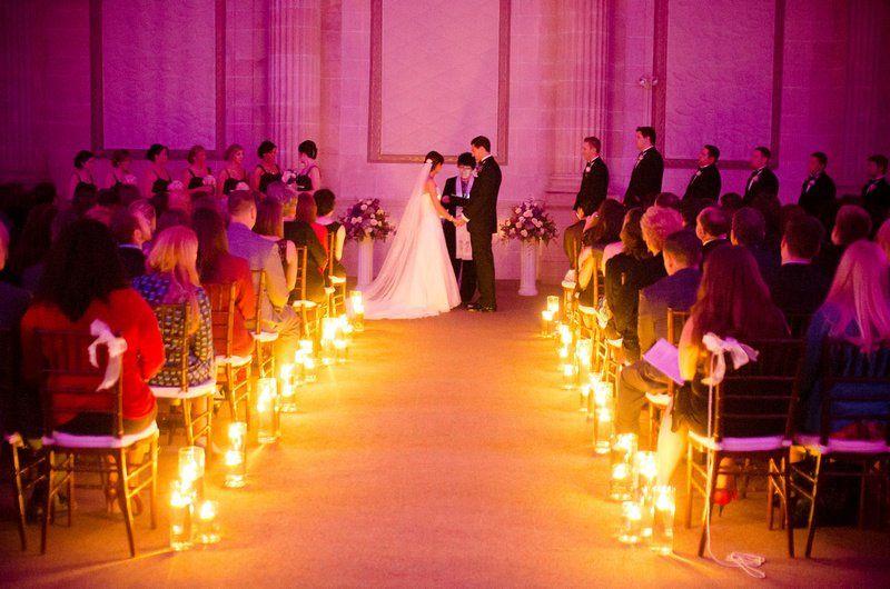 Candlelit aisle