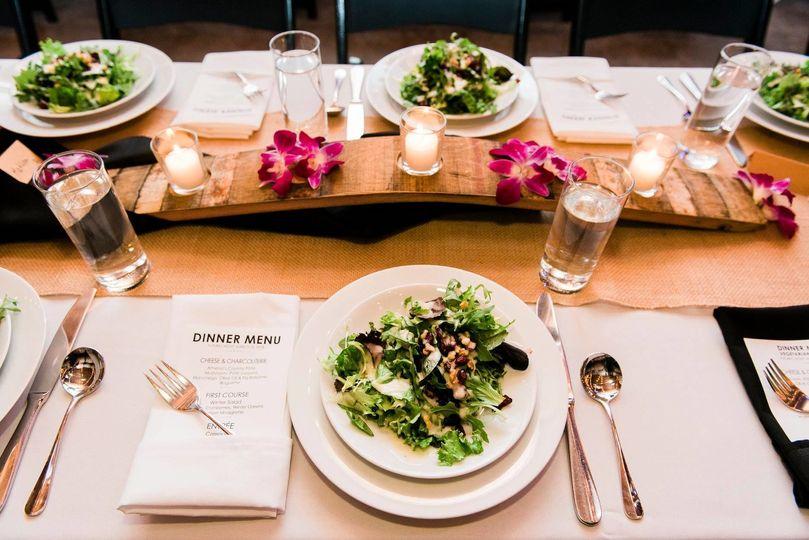 Salad starter at the reception