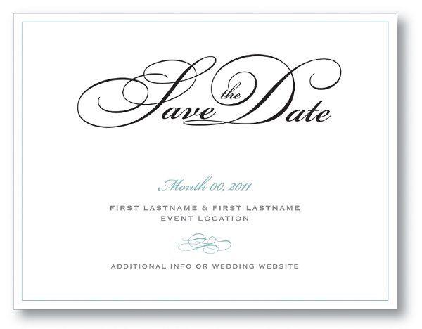 Tmx 1309439950536 Savethedatesimple Canton wedding invitation