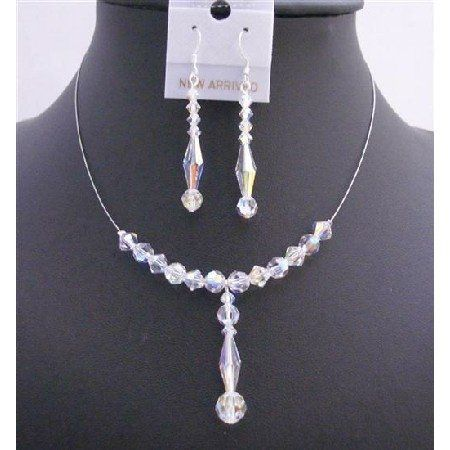 BRD999  Swarovski Crystals Bridal Jewelry Sapphire Crystals Freshwater Pearls...