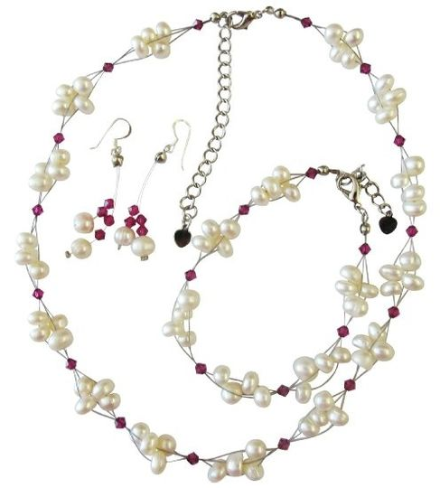 the Necklace and earrings is The ultimate layering piece, or bold and beautiful on its own, you...