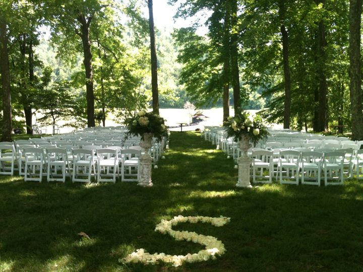Ceremony in the grove -Pete Dye Golf Club, Bridgeport, WV