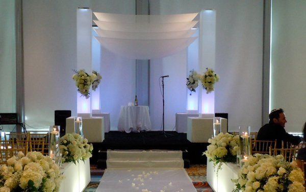 ArcDivine.com Neo Mode wedding chuppah, canopy, altar rental at the Eden Rock, Miami Beach FL,