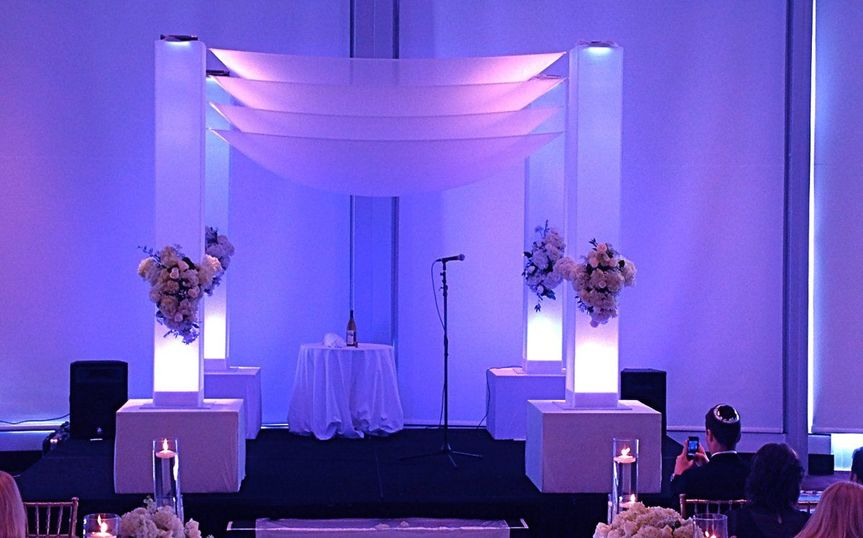 ArcDivine.com :: Miami Acrylic Chuppah Wedding Canopy Arch Rental Plastic Clear Glass