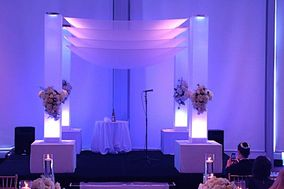 ArcDivine.com :: Miami Acrylic Chuppah Wedding Canopy Arch Rental Plastic Clear Glass