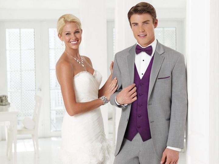 Tmx 1439322544971 Modern Tuxedo Groom With Bride Tavares wedding dress