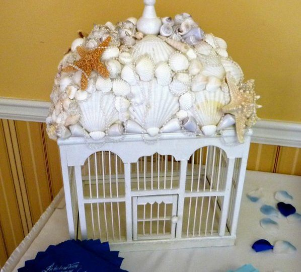 Rent this Shell house for  your next event....can be used as a main Centerpiece or as a gift...