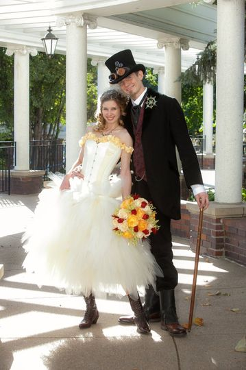 Photography with a Steampunk themed Wedding at the Gerald Ford Birthplace in Omaha.